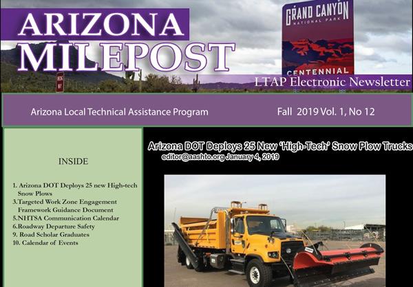 AZ LTAP Milepost Newsletter - Fall 2019