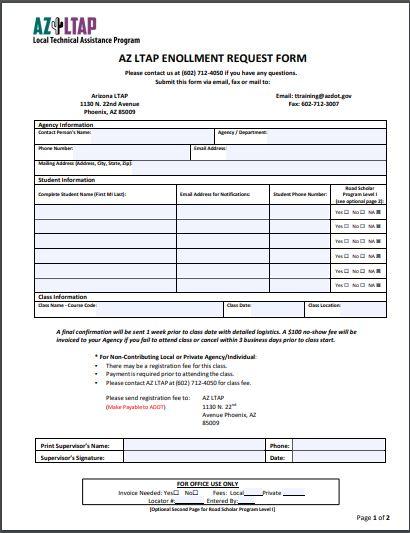 AZ LTAP Registration Request Form