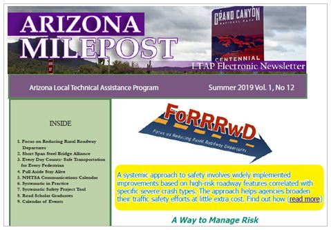 Arizona Milepost Summer 2019 Newsletter cover