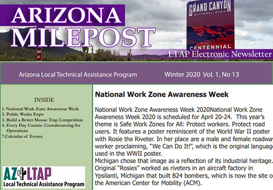 AZ LTAP Milepost Newsletter - Winter 2020